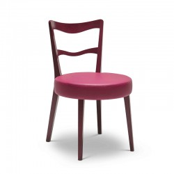 Eden padded wood chair in...