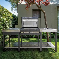 Outdoor kitchen with BBQ and hob - Yellowstone 2