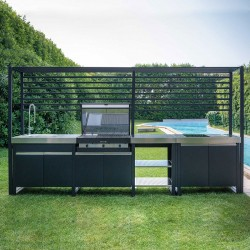 Outdoor kitchen with BBQ and induction hob - Wild