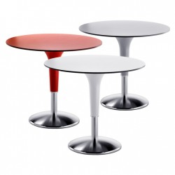 Tavolo bar con base in acciaio - Zanziplano