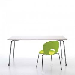 Tavolo da ufficio in acciaio - Filippo