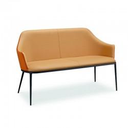 Waiting Sofa in fabric or leather - Lea