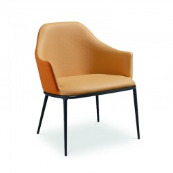 Waiting armchair in fabric or leather - Lea