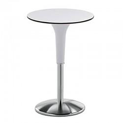 Tavolo alto da bar con base in acciaio - Zanziplano