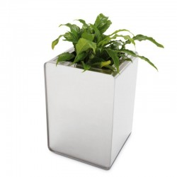 Flower box in stainless steel - Prisma Cylinder
