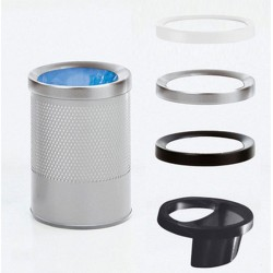 Hi-Tech waste paper bin or umbrella stand in perforated steel