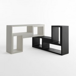 Urban bookcase in polyethylene