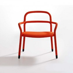 copy of Chair with armrests in fabric and imitation leather -