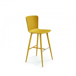 copy of Upholstered chair with armrests on wheels - Calla