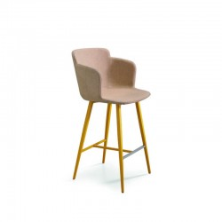 copy of Stool with armrests H. 65/75 cm - Calla