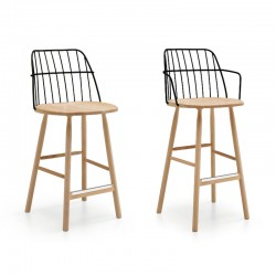 copy of Wooden chair with or without armrests - Strike