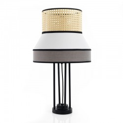 Table Lamp in Vienna straw and fabric - Hay