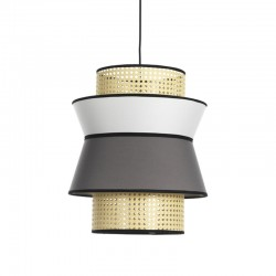 Pendant Lamp in Vienna straw and fabric - Hay