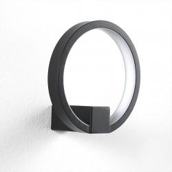Applique LED in alluminio nero / oro - Circle