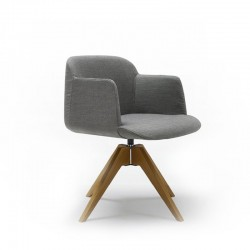 Swivel chair with wooden base - Deep