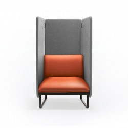Upholstered armchair with acoustic panels - Loft X
