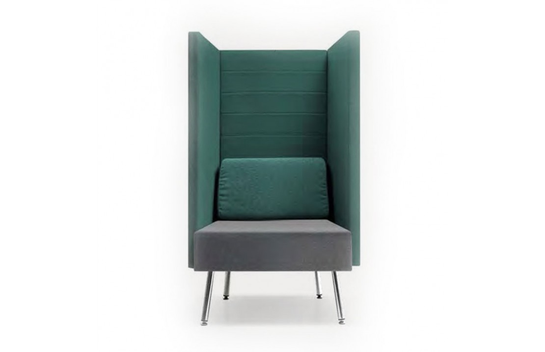 Upholstered armchair with acoustic panels - Loft