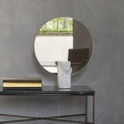 Specchio tondo con base in marmo - Prince