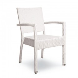 Stackable armchair with armrests - Sinfonia