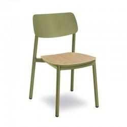 Stackable chair in aluminium - Lignano