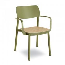 Sedia impilabile con braccioli - Rimini