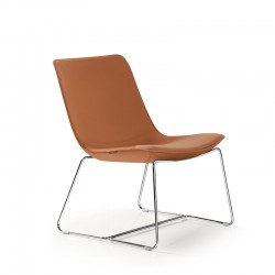 Upholstered lounge chair - Amelie Glue