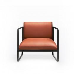 Upholstered waiting armchair - Loft X