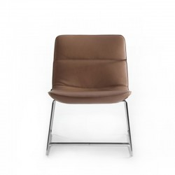 Lounge chair with sled legs - Amelie Comfort