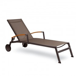 Sunbed with armrests and wheels - Malindi
