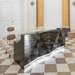 Reception desk in glass - Alpa