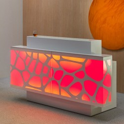 Reception counter with led lighting - Organic