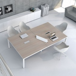 copy of Meeting table with melamine/glass top - Crystal