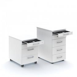 Cassettiera ufficio con scomparto portamatite - Standard