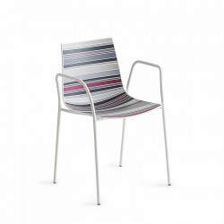 Stackable chair with armrests - Colorfive