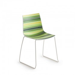 Stackable chair with sled legs - Colorfive