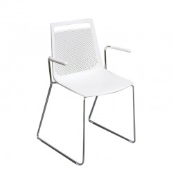 Meeting room chair with armrests - Akami