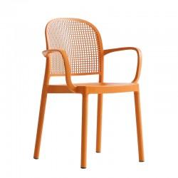 Sedia colorata impilabile con braccioli - Panama