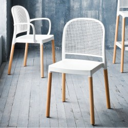 Stackable chair with/without armrests - Panama