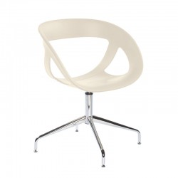 Swivel chair with or without castors Moema U