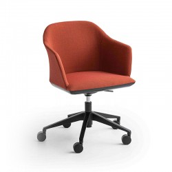 Upholstered office chair with wheels - Manaa