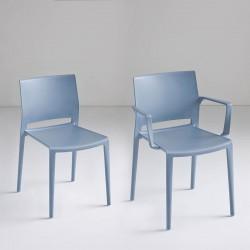 Sedia bar impilabile con o senza braccioli - Bakhita
