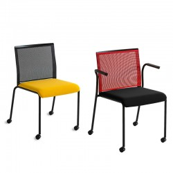 Meeting room chair with or without armrests - Teckel
