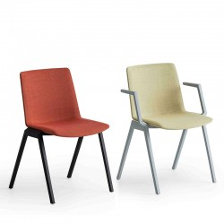 Upholstered chair with or without armrests - Jubel