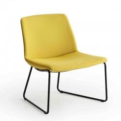 Sedia lounge con gambe a slitta - Kanvas