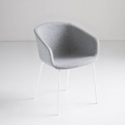 Fabric/leather upholstered chair - Basket