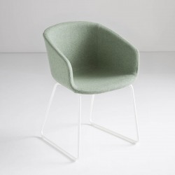 copy of Fabric/leather upholstered chair - Basket