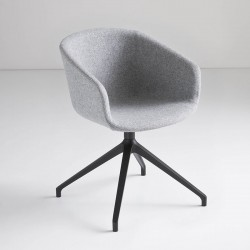 copy of Upholstered chair with sled legs - Basket