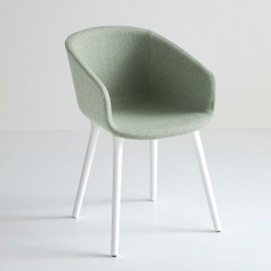 Upholstered chair in fabric/leather - Basket