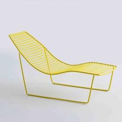 Chaise longue da esterno in metallo - Link