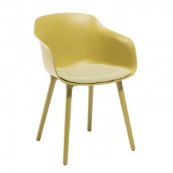 Colored bar chair legs polymer/wood - Dame